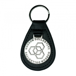 LEATHER KEY FOB NOIR