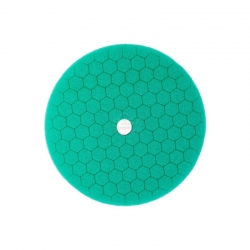 HEX MACHINE POLISHING PAD GREEN COMPOUND 125MM