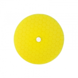 HEX MACHINE POLISHING PAD YELLOW MEDIUM 125MM