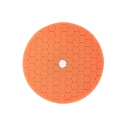 HEX MACHINE POLISHING PAD ORANGE FINISHING 125MM