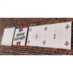 BANNIERE SHINY GARAGE 1.2X1.2M / 2X1M
