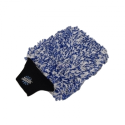 THE CYCLONE PREMIUM MICROFIBER WASH MITT BLUE