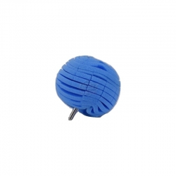BALL-SHAPED BUFFING BLUE HARD